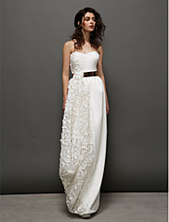 TS Couture Formal Evening Dress - Ivory Sheath/Column Sweetheart Floor-length Lace