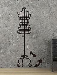 adesivos de parede decalques de parede, modernas roupas da moda cabide pvc adesivos de parede