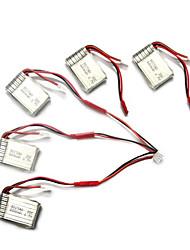 Syma X5C/X5C-1 Explorers Parts X5C-11 3.7V 500mAh Update 3.7V 680mAh Lipo Battery w/ jst 3 in 1 Cable Line x 5pcs