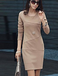 Wowen's Round Collar Solid Color Dress