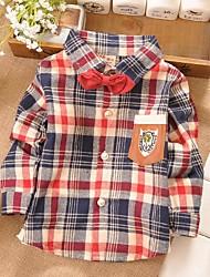 cotone camicia di flanella a quadri del ragazzo