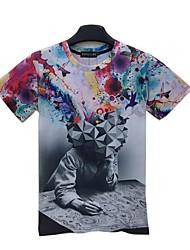 Herren Kurzarm T-Shirt, Baumwolle lässige Druck