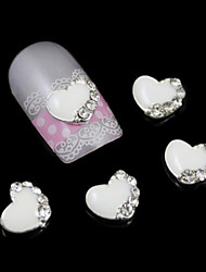 10pcs los accesorios de núcleo blanco de pegamento de uñas aleación de bricolaje decoración del arte del clavo