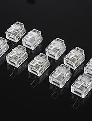 rj45 4 pinos abs conector modular transparente (20 pcs)