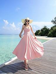 missfox Maldivas vestido de praia lace-up sexy backless vestido doliday boêmio Couture mostra finas mulheres