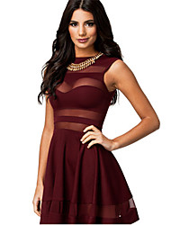 Belt Women's Sleeveless Sexy Dress