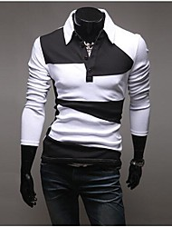 PROMOTION Men's Long Sleeve T-shirt Color Fashion Joker