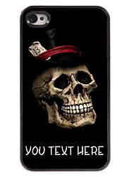 gepersonaliseerd geval koele schedel patroon metalen behuizing voor de iPhone 4 / 4s