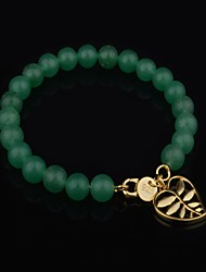 Woman's Fashion  Hollow Leaf Jade Bracelet(More Colors)