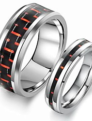 Simple Design Silver Color Tungsten 316L Metal Couple Ring