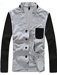 Men's Stand Collar Jacket Slim Fit Overcoat