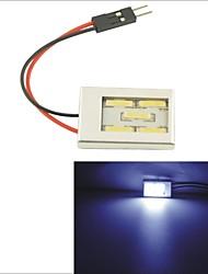 carking ™ T10 / feston 7014-5smd voiture conduit rome lampe lumière blanche (12v / pièce)