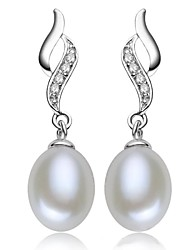 Women's Classic Freshwater Pearl Prevent Allergies Earrings
