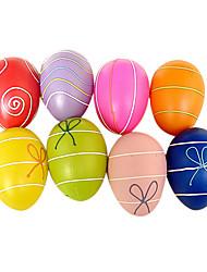 easter diy casca de ovo pintado, 6pcs plástico / cor aleatória saco