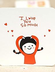 Lovely Girl Mini Thank Greeting Card (7.5*7.5cm)