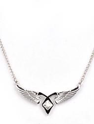 Women's  Fashion Wing Shape Silver Alloy Movie Pendant Necklace(1 Pc)