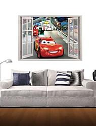 3d Stickers muraux stickers muraux, la mode dessin animé voiture décoration vinyle stickers muraux