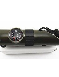7 in 1 Survival Camping Whistle with Compass Thermometer Flashlight Function