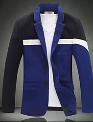 Men's New Color Matching Of Two Button Suit Fashion Leisure Code