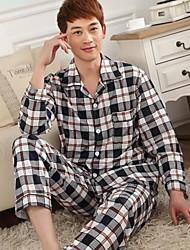 men'sthoracotomy langärmelige pastoralen reg einzelne strickende Baumwolle bequeme Freizeitkleidung Anzüge