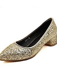 sapatas das mulheres toe pointed bombas de salto robusto com sapatos de lantejoulas mais cores disponíveis