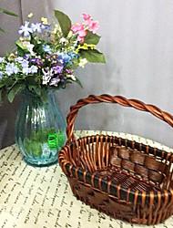 patrón de mimbre marrón oscuro cesta de la Pascua