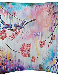 ensemble de chanson de velours la couverture de coussin décoratif de deux oiseaux