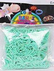 baoguang® 600pcs cor do arco-íris tear elástico moda tear transparente (1 pacote de C ou S clips)