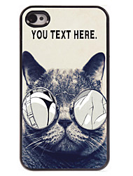 caja personalizada gato lujurioso caso del diseño del metal para el iPhone 4 / 4s