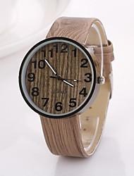 Women's Arabic Numerals Digital Round Table Pure Color Teak Strap  Watch C&D-350 Cool Watches Unique Watches