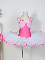Kids' Dancewear Dresses Children's Cotton Spandex Tulle Sleeveless