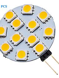 1.5W G4 Точечное LED освещение 12 SMD 5050 70 lm Тёплый белый / Холодный белый AC 12 V 20 шт.