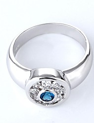 Silver Alloy Rhinestone Casul Rings For Women