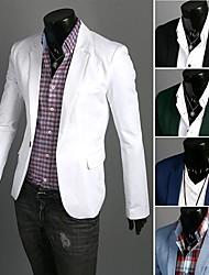 Mélange de coton/Polyester ) - HOMMES - pour Tous les jours/Travail/Grande occasion/Sport/Grandes Tailles Manches longues