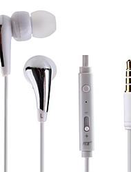 JTX 3,5 шумоподавления микрофона Регулятор громкости в-ухо наушники для автоматической идентификации для Iphone и других телефонов