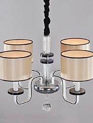 minimalista e moderno lustre sala iluminação pano cristal arte chandelier
