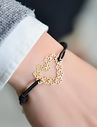 Cut Out Heart Stamping Elastic Bracelet