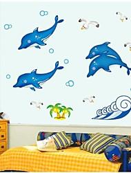 стикеры стены наклейки на стены, светящиеся дельфин наклейки стены PVC