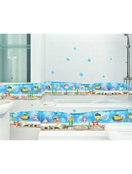 pared calcomanías pegatinas de pared, estilo submarino belleza pvc pegatinas de pared