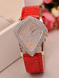 Women's   Diamond   Leather Watch    Diamond High Quality Japanese Watch Movement(Assorted Colors) Cool Watches Unique Watches