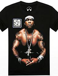 Männer Oansatz Sommer Muskelmann 3d gedruckt Kurzarm-T-Shirt