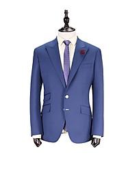 chaqueta azul traje de corte sartorial sólido de lana