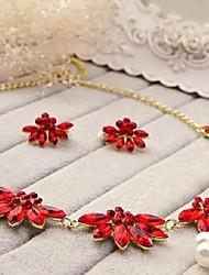 Women's Titanium Jewelry Set Crystal