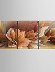 E-Home® Декоративная роспись на холсте, дерево, цветок, инсталляция из трех картин