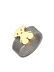 Women's  Stainless Steel   bear Ring