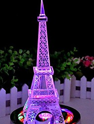 Color Changing Iron Tower LED Night Light Lamp