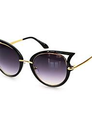 100% UV Women's Cat-Eye Alloy Retro Sunglasses