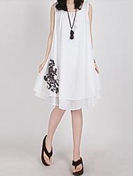 женская летняя свободно жилет платье