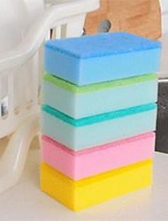 bunten Schwamm, Schwamm 15 x 10 x 4 cm (6,0 x 4,0 x 1,6 Zoll) zufällige Farbe