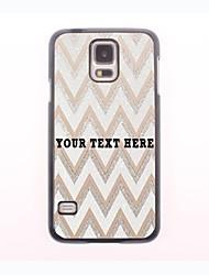 personalisierte Telefon-Tasche - weiss Ripple Design-Metall-Fall für Samsung-Galaxie s5